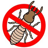 No Termite. A vector illustration of a Termite sign Stock Images