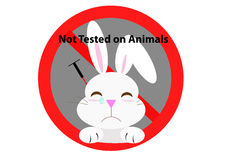 No test on animal sign Royalty Free Stock Photography