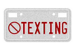 No texting while driving Stock Images