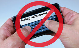 No Texting While Driving. Sign Stock Photography