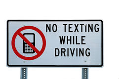 No Texting While Driving Sign Stock Photography
