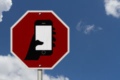 No Texting and Driving Sign Royalty Free Stock Images
