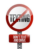 No texting road sign illustration design. Over a white background Stock Images