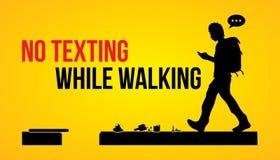 No texting while walking Royalty Free Stock Photos