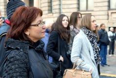No 75th aniversário do festival de John Lennon em Riga Fotos de Stock