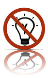 No thinking allowed symbol Stock Images