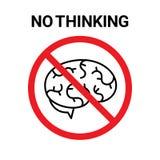 No thinking sign Stock Photography