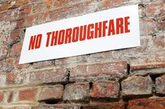 No thoroughfare sign Royalty Free Stock Photography