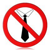 No tie. Illustration of restriction sign No tie Stock Image