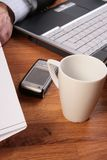 No time for coffee break. Stock Photography