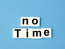 No time concept, block alphabets Royalty Free Stock Photos