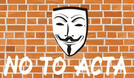No to acta Royalty Free Stock Images