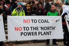 No to coal Royalty Free Stock Photo