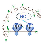No to drugs Stock Image