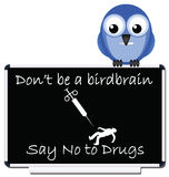No to drugs message Royalty Free Stock Photo