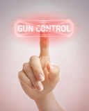 No to gun control. Trying to stop irrational gun control attempts royalty free stock photos