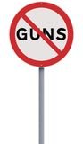 No to Guns Stock Images