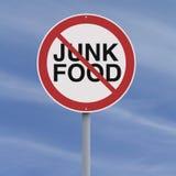 No to Junk Food. A conceptual sign against junk food Stock Images