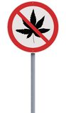 No to Marijuana Royalty Free Stock Images