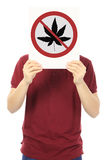 No to Marijuana Royalty Free Stock Image