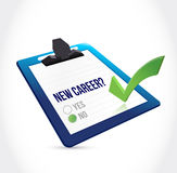 No to a new career check mark Stock Image