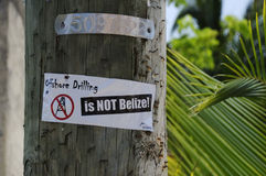 No to offshore drilling Stock Photo