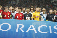 NO TO RACISM Bayer 04 Leverkusen v Zénith Saint-Pétersbourg Champion League Royalty Free Stock Image