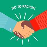No to racism, handshake businessman agreement Royalty Free Stock Photos