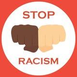 No to racism illustration. Discrimination symbol. Stock Photo