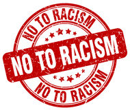 No to racism red grunge round vintage stamp Stock Photo