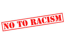 NO TO RACISM Stock Image