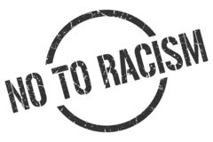 No to racism stamp. No to racism round grunge stamp. no to racism sign. no to racism vector illustration