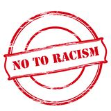 No to racism. Rubber stamp with text no to racism inside,  illustration Stock Photography