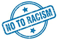 No to racism stamp. No to racism grunge vintage stamp isolated on white background. no to racism. sign stock illustration