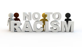 No to racism Royalty Free Stock Image