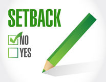 No to a setback. check list illustration design Royalty Free Stock Image