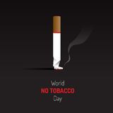No tobacco day sign and symbol with dark background Stock Photos
