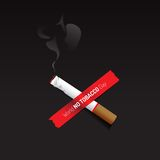 No tobacco day sign and symbol with dark background Royalty Free Stock Photography