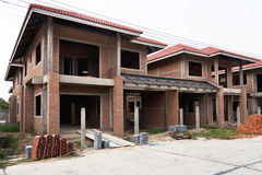 No todavía terminado a casa bajo construcción Fotos de archivo