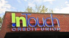 No toque Credit Union foto de stock