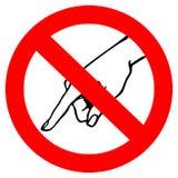 No toque la señal de peligro Fotografía de archivo libre de regalías