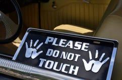 No toque por favor la muestra Foto de archivo