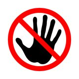 Do not touch. Prohibition sign royalty free illustration