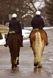 No trabalho - patrulha montada Imagens de Stock