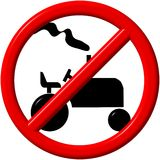 No tractor. Sign - a computer generated image Royalty Free Stock Image