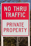 No Through Traffic sign Stock Photo