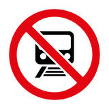 No train sign icon great for any use. Vector EPS10. Stock Photos