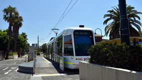 No 109 tram at the Port Melbourne Light Rail Station. Stock Image