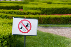 No trample sign Stock Photography