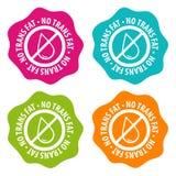 No Trans fat Badges. Eps10 Vector. Four different colours Stock Illustration
